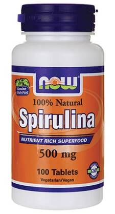 Spirulina 500 mg 100% Natural - 100 Tabs